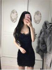 New Arrival Sleeveless Velvet Dress