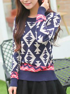 Newest Printed Women Knit Sweater