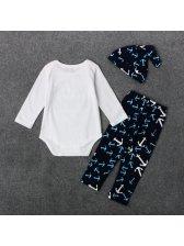 Print O Neck Onesie Baby Suits