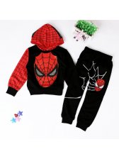 Spider Man Print Sweatshirt Baby Suits