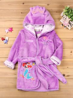 Mermaid Embroidery Bathrobes Baby Coat