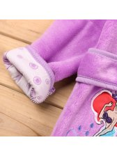 Mermaid Embroidery Bathrobes Baby Coat