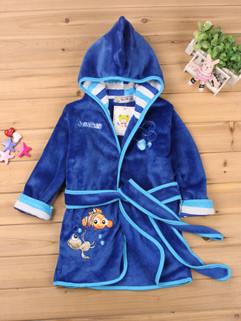 Goldfish Embroidery Bathrobes Children Coat