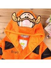 Tiger Embroidery Bathrobes Children Outerwear