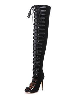 Peeptoes High Heel Women Sexy Boots