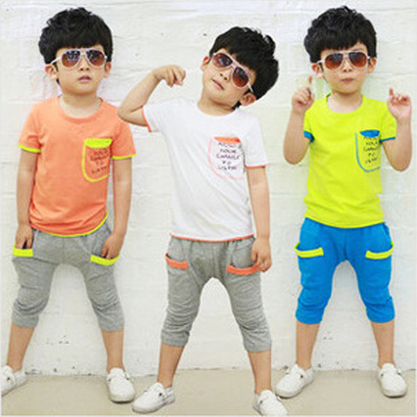 Letter Shirts With Pants Kids Sportswear