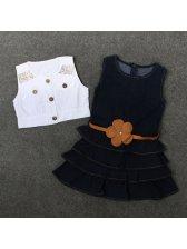 White Jackets With Denim Baby Dress