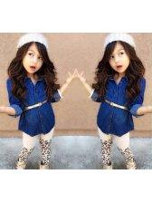 Blue Jackets With Leopard Pants Children Suits