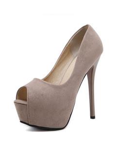 Peeptoes High Heels Pumps Fashion Shoes