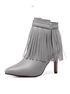 Tassel Ladies High Heel Boots