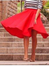 Solid OL Maxi Hem Skirt