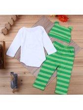 Onesie With Stripe Pants Kids Suits