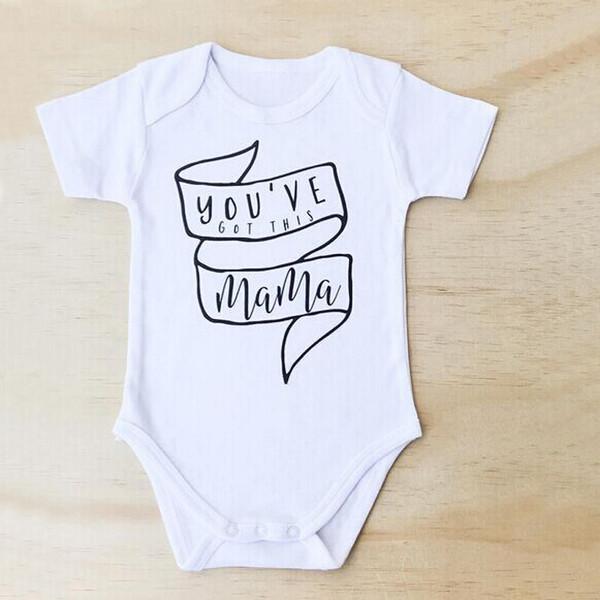 Pullover Letter Baby White Onesie