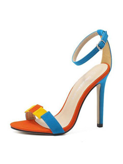 Stiletto Women Blue Heel Sandals