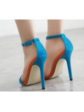 Stiletto Women Blue Heel Sandals