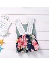 Floral Sleeveless Baby Onesie