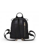 Korean Style Black Zipper Backpack