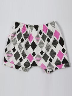 Square Print Harem Baby Pants