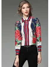Exquisite Printed Long Sleeve Blouse