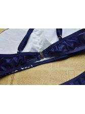 Outlet Printed Blue Ladies Swimwear