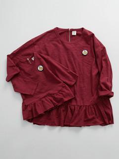 Korean Family Clothing O Neck Shirts