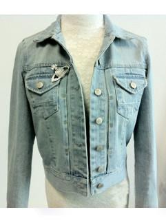 Solid Women Outerwear Denim Coats