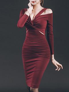 Korean Hollow Out Twist Knot Sexy Dress