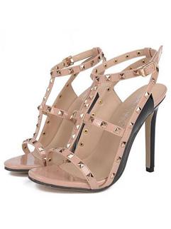 Rivet High Heels Women Sandals