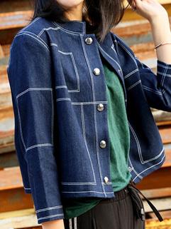 BF Style Patchwork Denim Coat