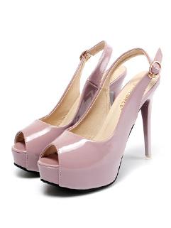 Peep Toe Women High Heels Pumps