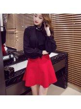 High Waist Ruffle Elastic Short Skirt