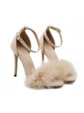 Stiletto Fur Women Sandals Shoes