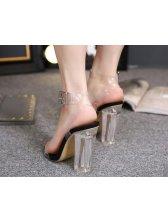 Transparent Chunky Women Sandals Shoes