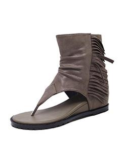 Tassel Hidden Heel Sandals For Girls