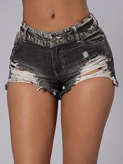 Stylish Summer Ripped Denim Shorts