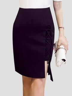 Sexy Bandage Asymmetrical Woman Skirt