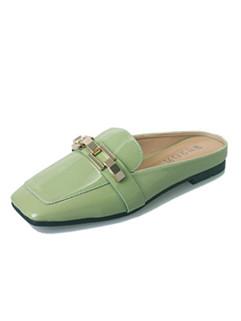 Square Toe Women Mule Shoes Flats