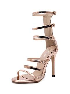 Solid Stiletto Gladiator Sandals For Girls
