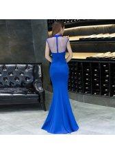 Customized O Neck Beading Mermaid Evening Dresses