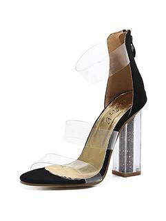 Chunky Transparent Girls Sandals