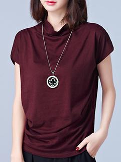 Solid Plus Size Cotton T Shirt