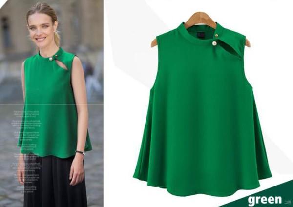 Sleeveless Chiffon Women Blouse Designs