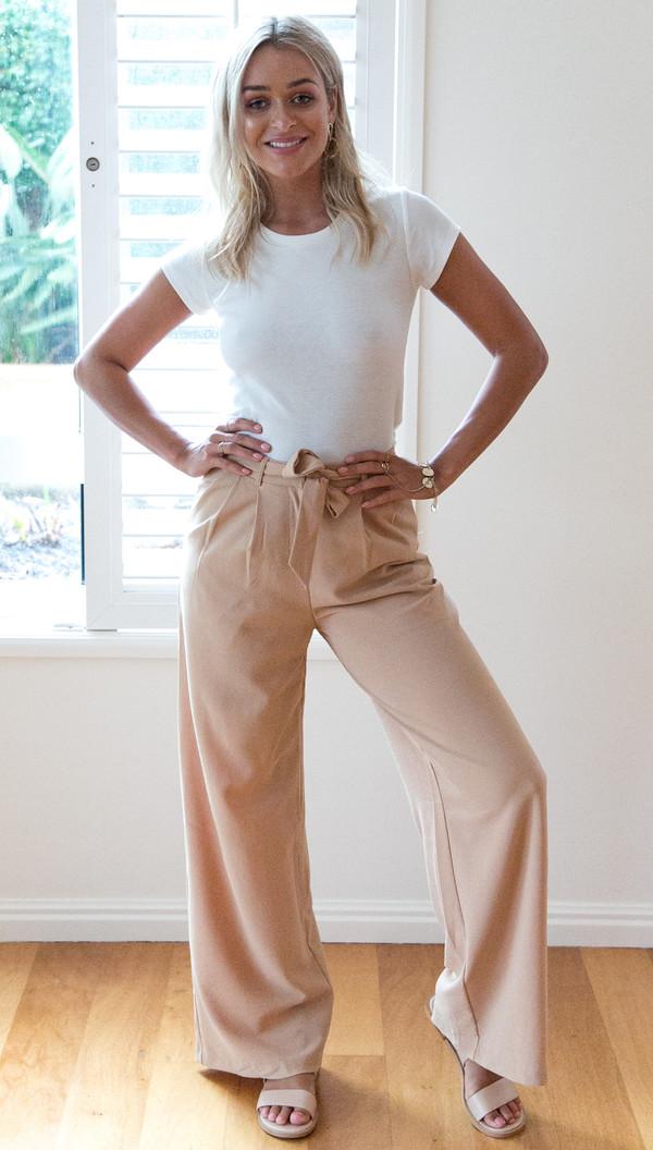 Straight Tie-Wrap Loose Pants