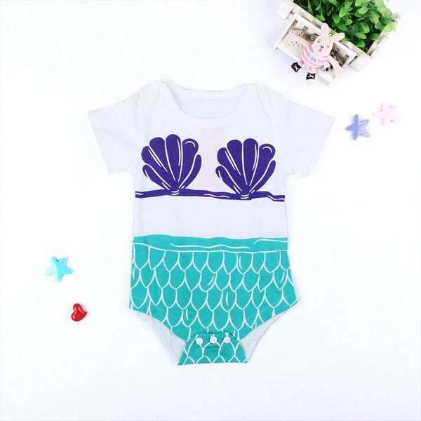 Short Sleeve Print O Neck Baby Onesie