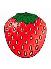Factory Outlet Strawberry Print Cushion