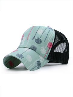 New Print Gauze Patchwork Sun Proof Hat