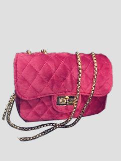 Solid Rhombus Pattern Hasp Square Shoulder Bag