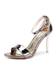 Mirror Solid Women High Heel Sandals