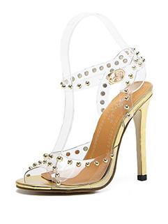 Transparent Stiletto Girls Sandals