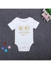 Print Pullover O Neck Kids Onesie